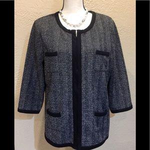 Liz Claiborne tweed blazer